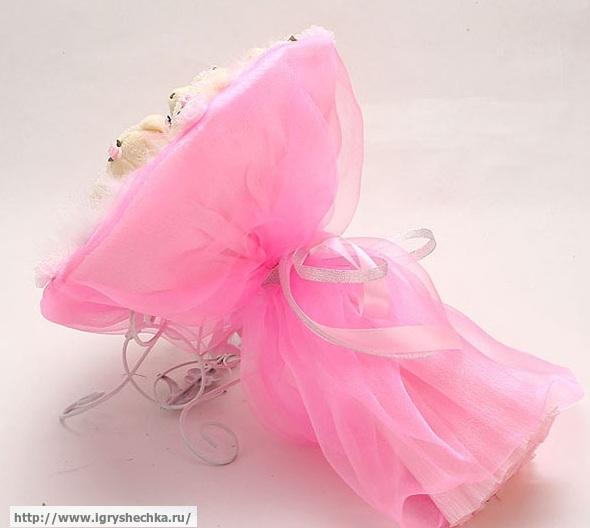 """Букет из мягких игрушек """"Розовый цветок"""""""